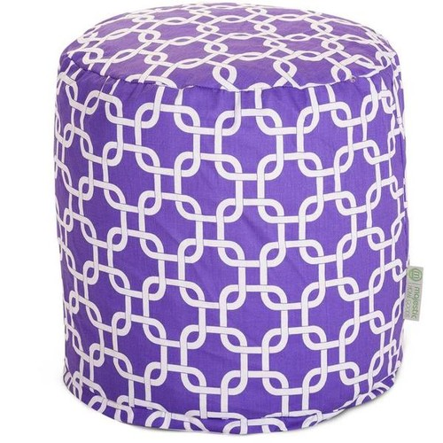 Majestic Home Goods Ottomans & Storage Ottomans Majestic Home Goods Purple Links Pouf