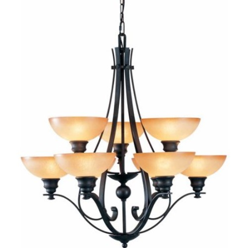 Volume Lighting Rainier 9 Light Chandelier