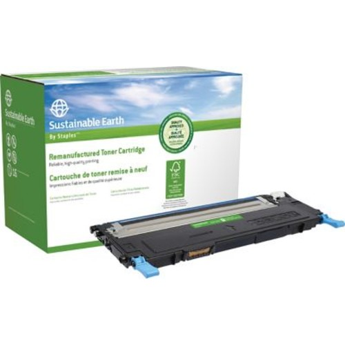 Sustainable Earth by Staples Remanufactured Cyan Toner Cartridge, Dell 1230