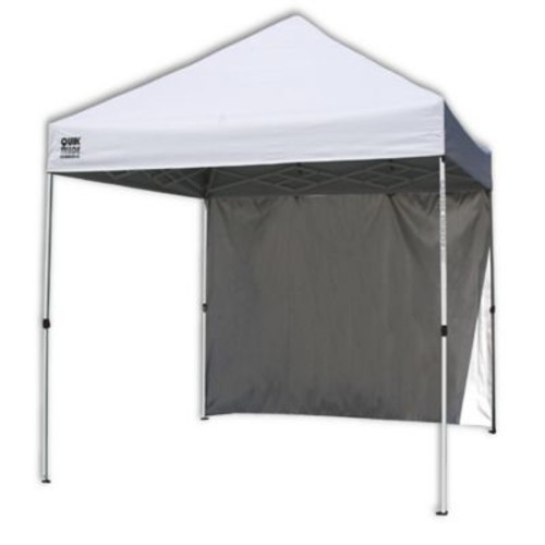 Quik Shade Commercial 10-Foot x 10-Foot Instant Canopy with Wall Panel in White
