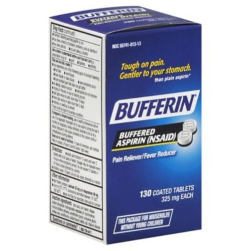 Bufferin 130-Count Regular Strength Aspirin Tablets