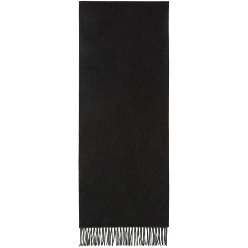 JIL SANDER Black & Grey Cashmere Scarf