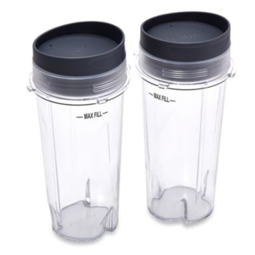 Ninja 16 oz. Single Serve Cups with Lids for Ninja BL660 Professional Blender (Set of 2)