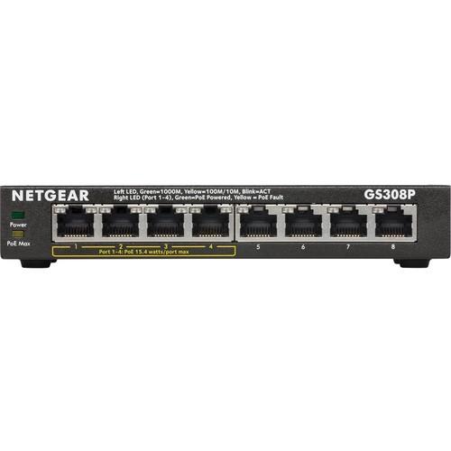 NETGEAR - SOHO 8-Port Gigabit Ethernet Switch - Black
