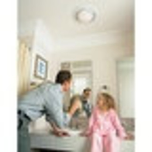 NuTone 8664RP 100 CFM 3.5 Sone Ceiling Mounted HVI Certified Bath Fan with Light