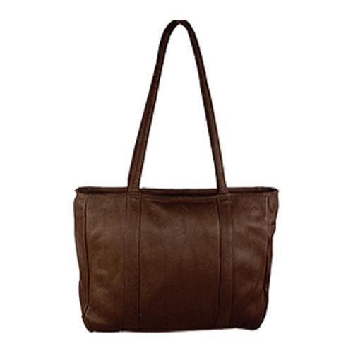 Women's David King Leather 574 Multi Pocket Shopping Bag Cafe