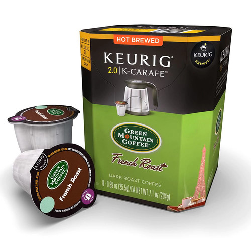 K-Carafe 8-ct. French Roast by Green Mountain Coffee Pack