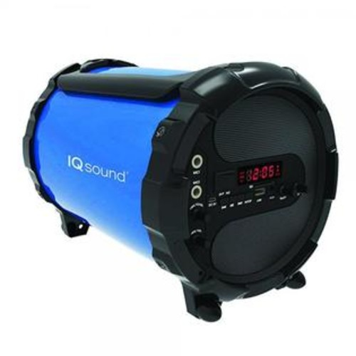 SuperSonic Wireless Bluetooth Active HiFi Portable Speaker, Blue (IQ-1428 Blue)