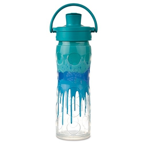 Lifefactory Classic 16 oz. Glass Bottle With Flip Cap in Blue