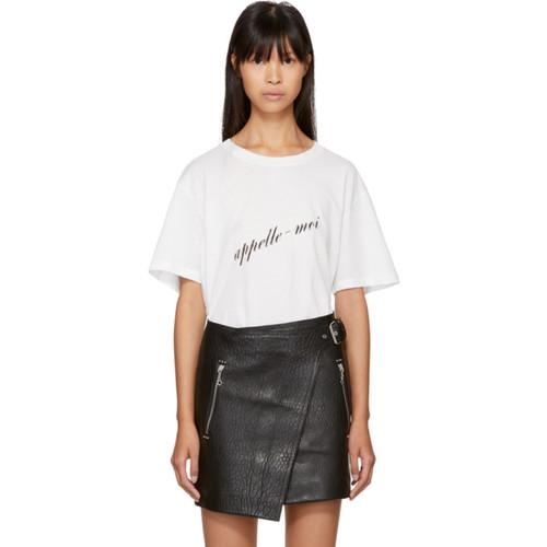 SAINT LAURENT White 'Appelle-Moi' T-Shirt