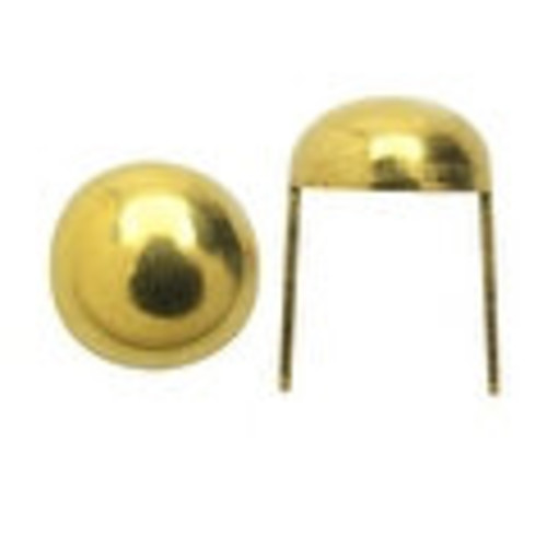 Create Recklessly, Round Head Spot Studs 5/16, 24 Pieces, Brass Plated