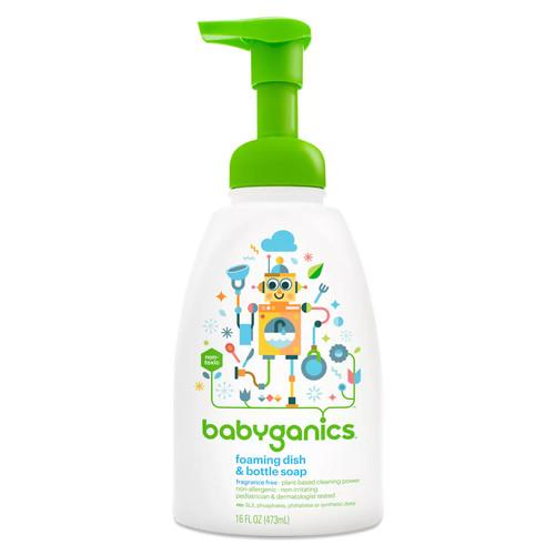 Babyganics Dish Dazzler Foaming Dish and Bottle Soap, Fragrance Free, 16 Fluid Ounce [Fragrance Free, 16 Fluid Ounce]