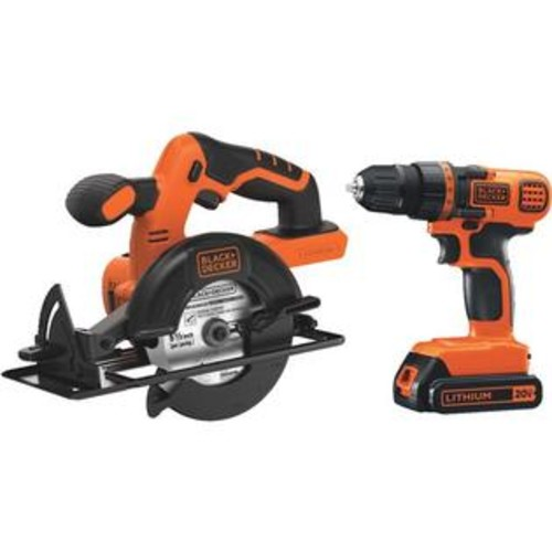 BLACK+DECKER Black & Decker BD2KITCDDCS 20v Drill/Circ Saw Kit