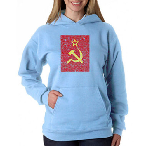 Los Angeles Pop Art Lyrics To The Soviet National Anthem Sweatshirt