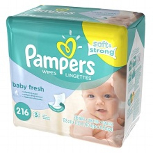 Pampers Soft & Strong Wipes Refills Baby Fresh
