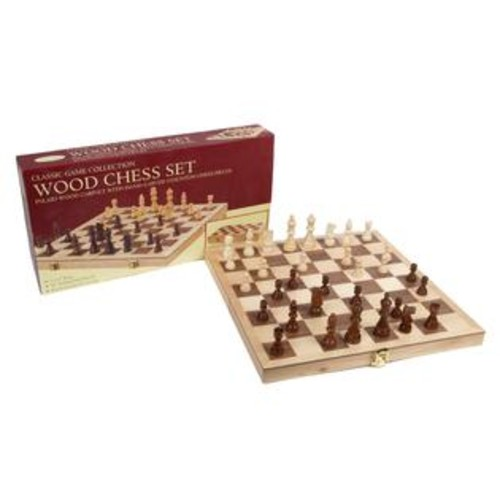 John N. Hansen Co. 10.5-inch Deluxe Folding Wood Chess Set