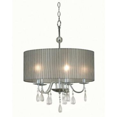 Kenroy Home Kenroy Arpeggio 5 Light Pendant In Chrome Finish