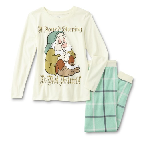 Disney Snow White and the Seven Dwarfs Women's Plus Pajama Shirt & Pants