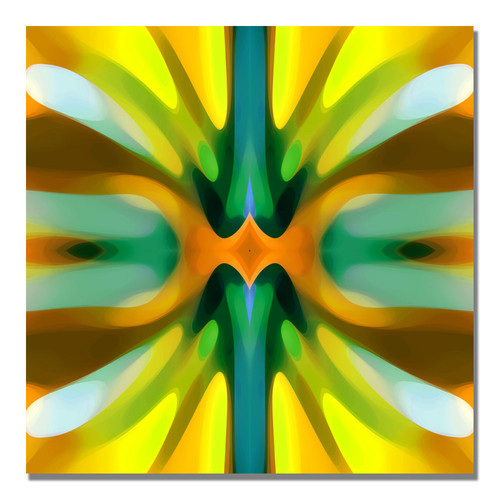 Trademark Global Amy Vangsgard 'Tree Light Symmetry Yellow' Canvas Art [Overall Dimensions : 18x18]