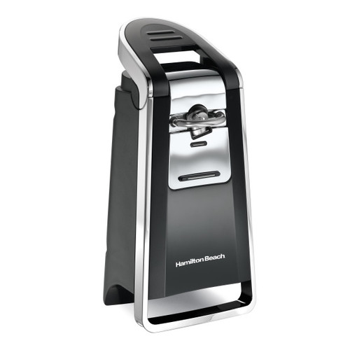 Hamilton Beach 76606ZA Smooth Touch Can Opener, Black and Chrome [Frustration-Free Packaging, Without scissors]