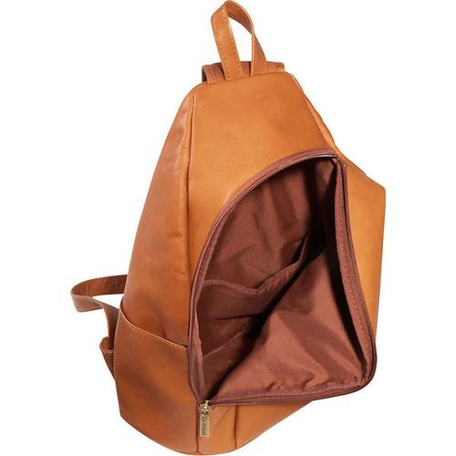 LeDonne Unisex Leather Unisex Sling Backpack in Brown, Tan or Black
