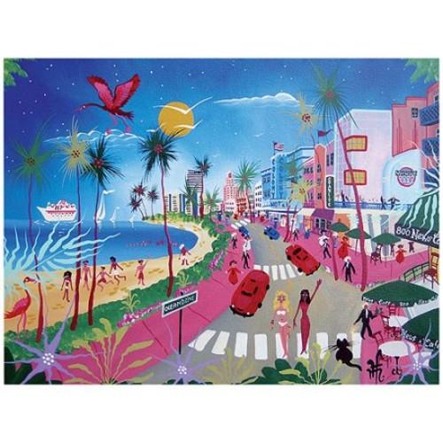Ocean Drive by Herbert Hofer, 18x24-Inch Canvas Wall Art