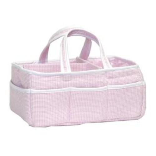 Trend Lab Gingham Seersucker Storage Caddy, Pink