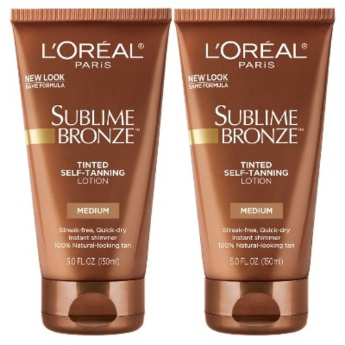 L'Oreal Paris Sublime Bronze Tinted Self-Tanning Lotion - 2pk