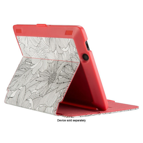 Speck - StyleFolio Case for Kindle Fire HDX - FreshBloom Pink/Black/Coral