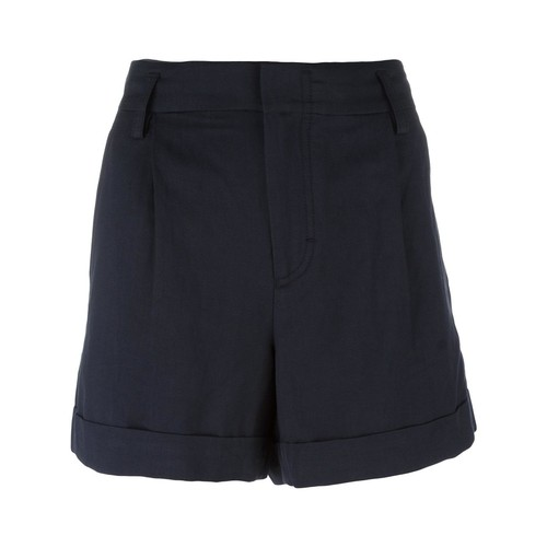 VINCE Wide-Legged Pleated Shorts
