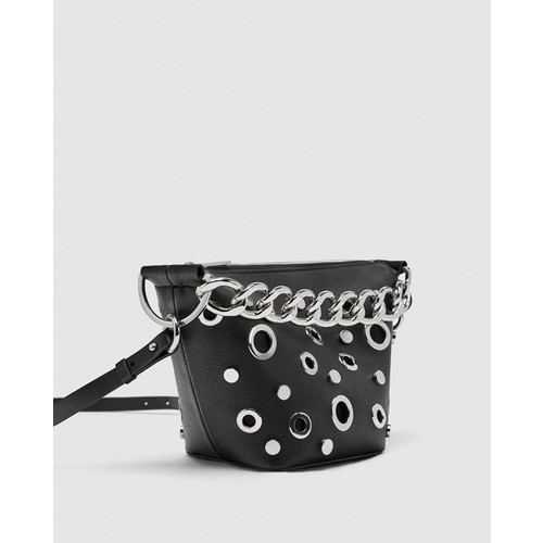 SOFT BLACK BUCKET BAG