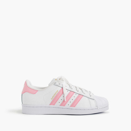 Girls' Adidas Superstar sneakers in larger sizes
