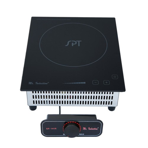 SPT 8.86 in. Mini Tempered Glass Induction Cooktop in Black with 1 Element