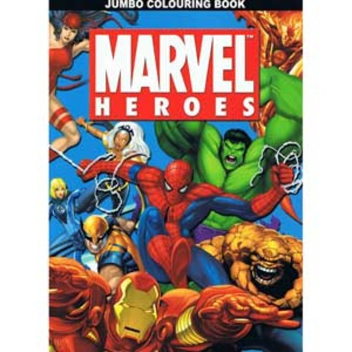 Marvel Heroes - Jumbo Coloring & Activity Book