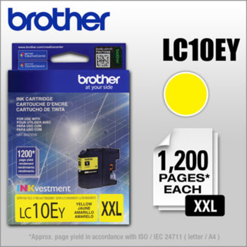 Brother LC10EY INKvestment Super High Yield Ink Cartridge Yellow