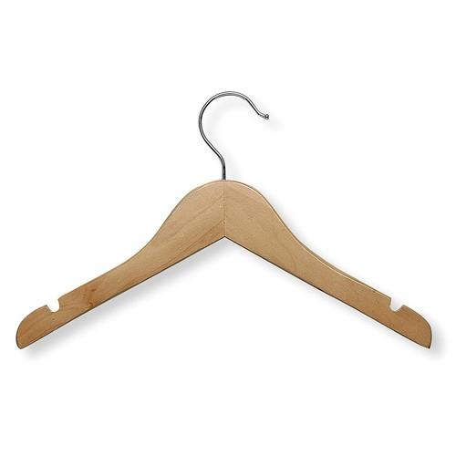 Honey-Can-Do HNGT01224 Kid's Basic Shirt Hanger Maple, 10-Pack