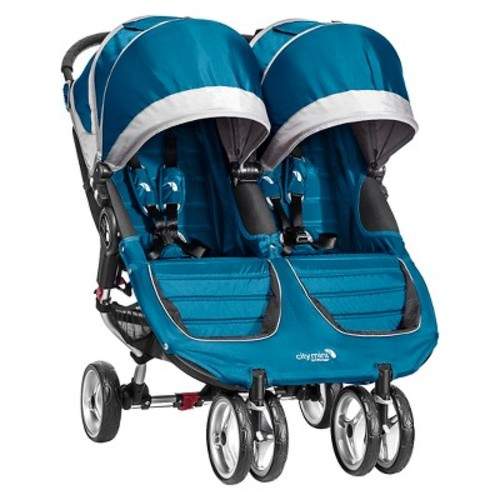 Baby Jogger City Mini Double Stroller - Teal/Gray