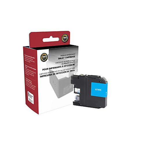 Clover Technologies Group High-Yield Remanufactured Ink Cartridge, Cyan, 118067 (Brother LC103C)