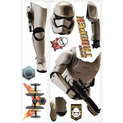RoomMates 5 in. W x 19 in. H Star Wars EP VII Storm Trooper 10-Piece Peel and Stick Giant Wall Decal