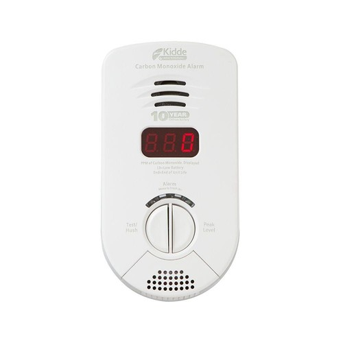 Kidde Plug-In CO 10-Year Worry Free Lithium Battery Backup Alarm for Bedroom