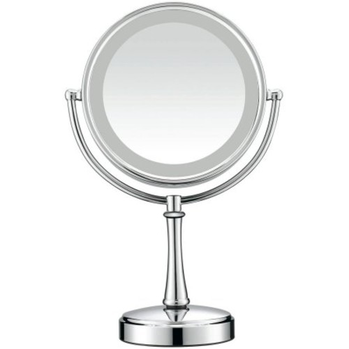 Conair Touch Control Double-Sided Lighted Satin Nickel Mirror