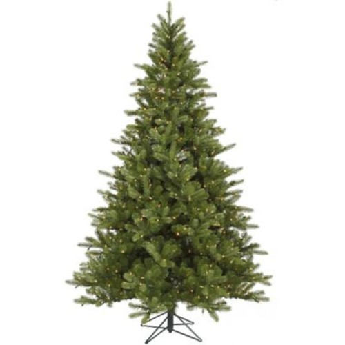 Vickerman King 9' Green Spruce Artificial Christmas Tree w/ 850 Dura-Lit Clear Lights w/ Stand