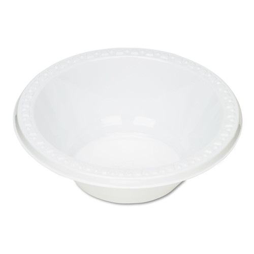 Tablemate TBL12244WH Plastic Dinnerware, Bowls, 12oz, White, 125/Pack