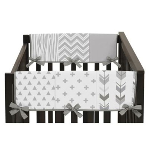 Sweet Jojo Designs Woodsy Short Rail Guards in Grey/White (Set of 2)