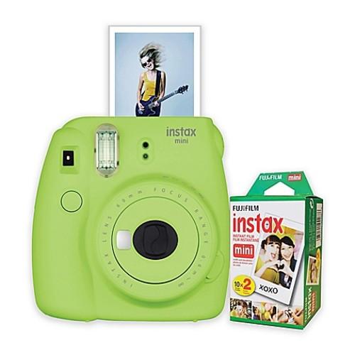 Fujifilm Instax Mini 9 Instant Camera Bundle in Lime Green
