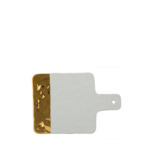 Gold-Tone Textured Porcelain Cheese Board