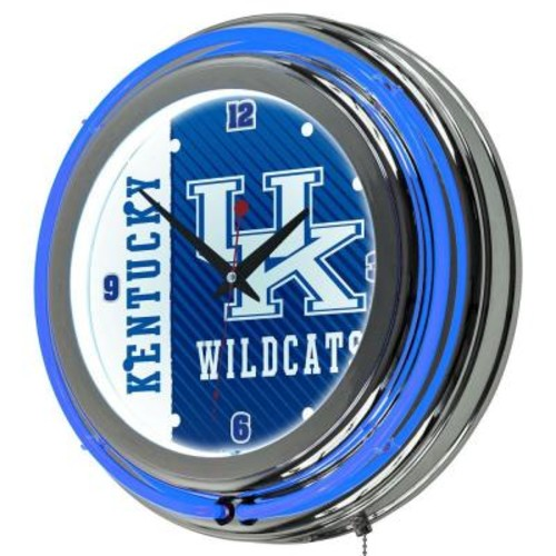 Trademark Global University of Kentucky 14 in. x 14 in. Text Round Neon Wall Clock