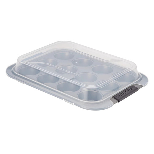 Anolon Advanced Nonstick Muffin Pan with Lid