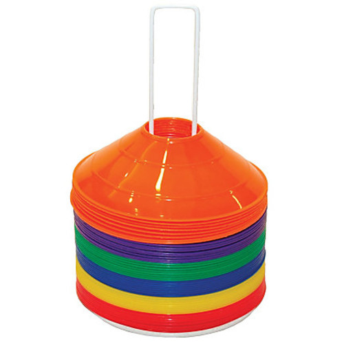 Champion Sports Saucer Field Cone Set, Assorted Colors, Pack Of 48