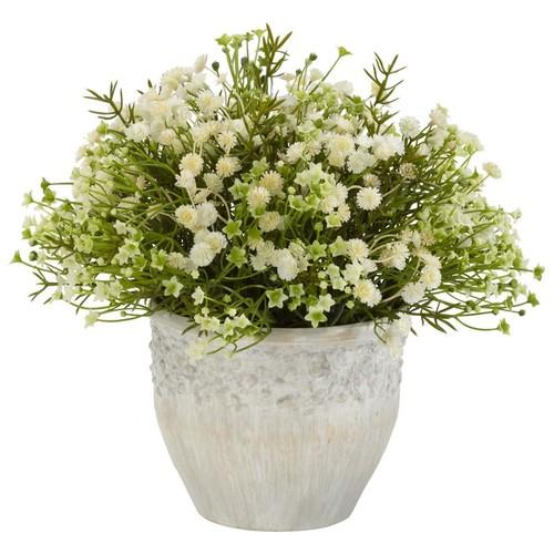 Nearly Natural Daisy Decorative Silk Plant Indoor/Outdoor Mini Mixed 4125